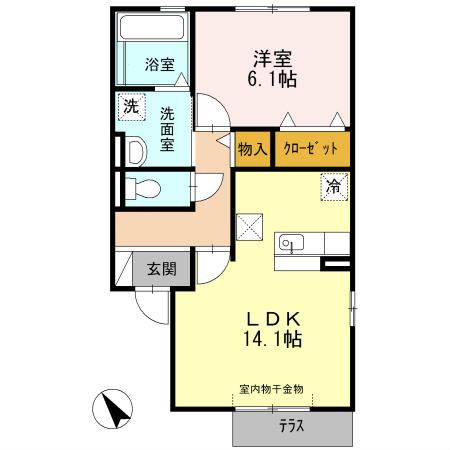 LDK14.1帖 洋室6.1帖