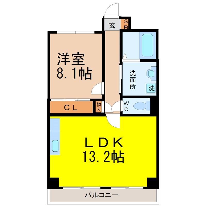 LDK13.2帖 洋室8.1帖