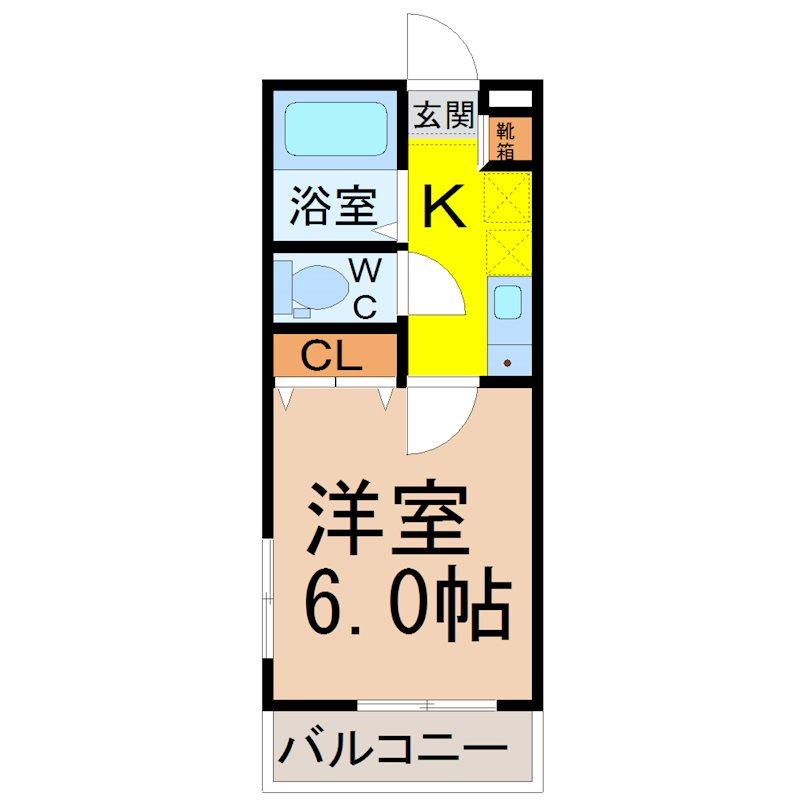 間取り 洋室6.0帖