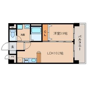 LDK10.2帖 洋室3.9帖 家電ご用意できます。
