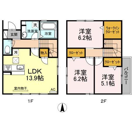 D-room下米野戸建賃貸